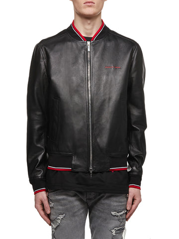 Dior Homme Leather Bomber Jacket