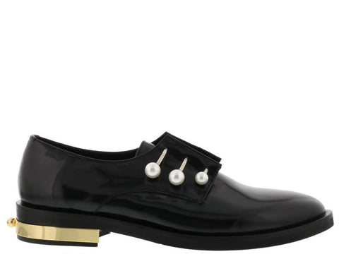 Coliac Fernanda Pearl Detail Derby Shoes