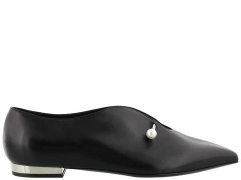 Coliac Pearl Detail Pointed Shoes