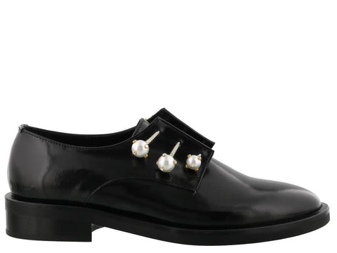 Coliac Nina Pearl Detail Derby Shoes