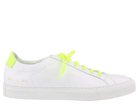 Common Projects Retro Low Top Fluro Sneakers