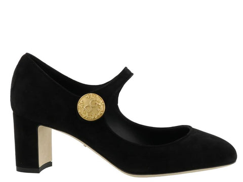 Dolce & Gabbana Vally Suede Mary Janes