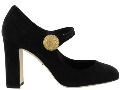 Dolce & Gabbana Suede Mary Jane Pumps