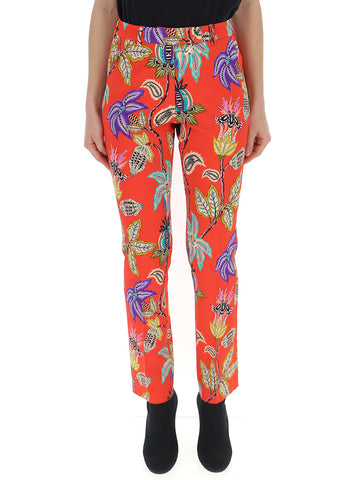 Etro Printed Tapered Trousers