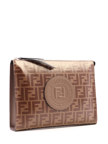 Fendi Logo Monogram Clutch Bag