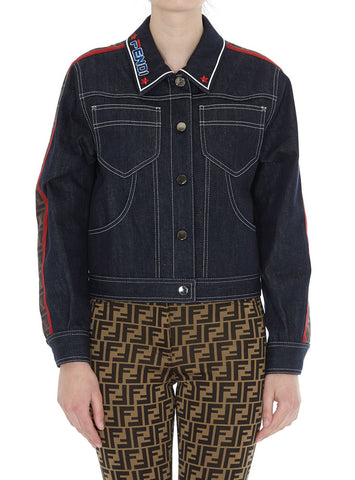Fendi Logo Contrast-Stitch Jacket