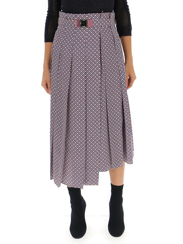 Fendi Patterned Pleated Skirt