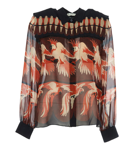 Fendi Bird Printed Shirt
