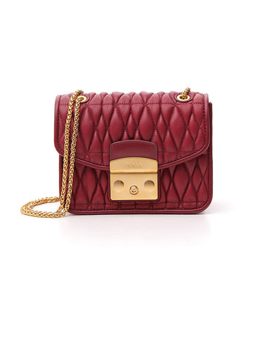Furla Quilted Chain Strap Shoulder Bag