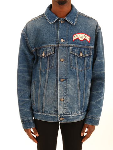 Gucci Back Patch Denim Jacket