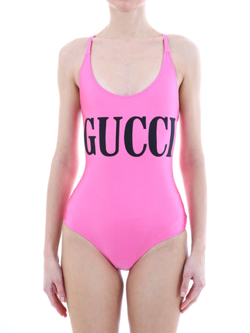 Gucci Print Cross Back Swimsuit
