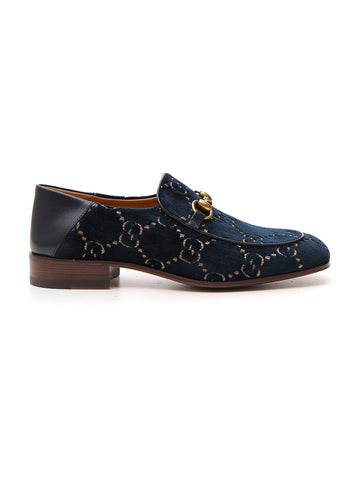 Gucci Horsebit Velvet Loafers
