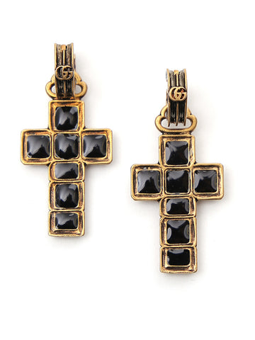 Gucci Cross Monochrome Earrings