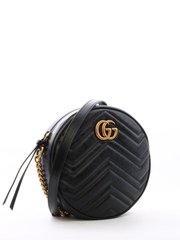 Gucci GG Marmont Mini Round Matelassé Shoulder Bag