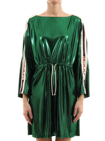 Gucci Laminated Long Sleeve Dress