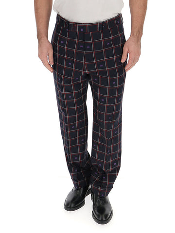 Gucci Checked Straight Leg Pants