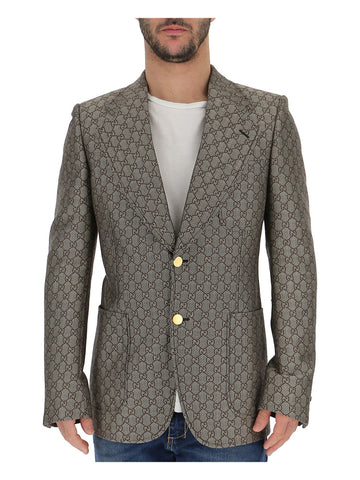 Gucci Metallic Slim Fit Blazer