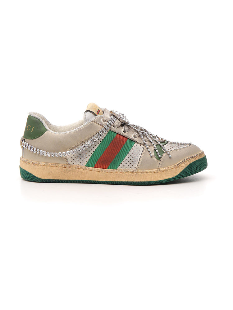 Gucci Crystal Embellished Sneakers