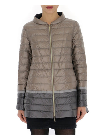 Herno Zipped Colour Block Puffer Jacket
