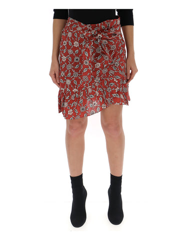 Isabel Marant Étoile Printed Wrap Front Skirt