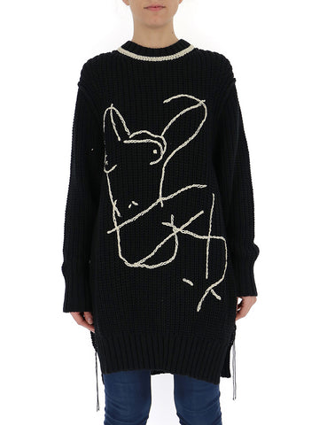 Jil Sander Oversized Embroidered Jumper