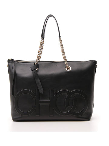 Jimmy Choo Allegra Embossed Logo Tote Bag