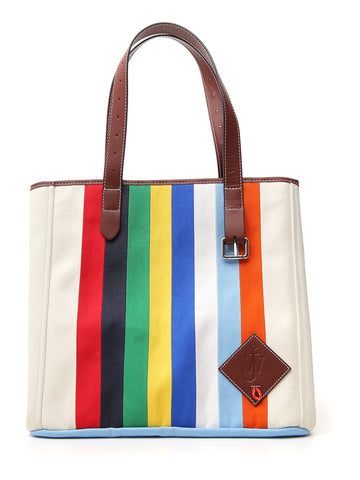 JW Anderson Rainbow Striped Tote Bag
