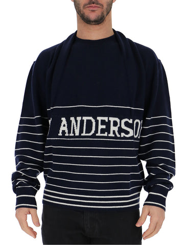 JW Anderson Logo Shawl Collared Sweater