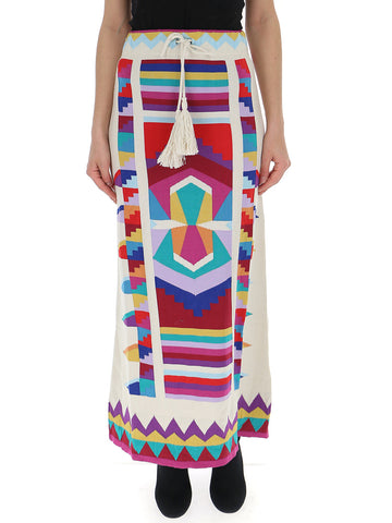 Laneus Patterned Maxi Skirt