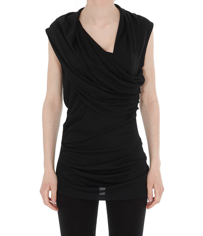 Lanvin Sleeveless Draped Blouse