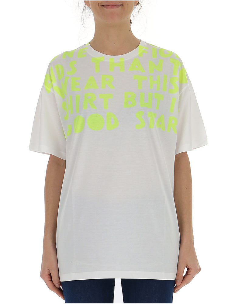 Maison Margiela Slogan Detail Oversized T-Shirt