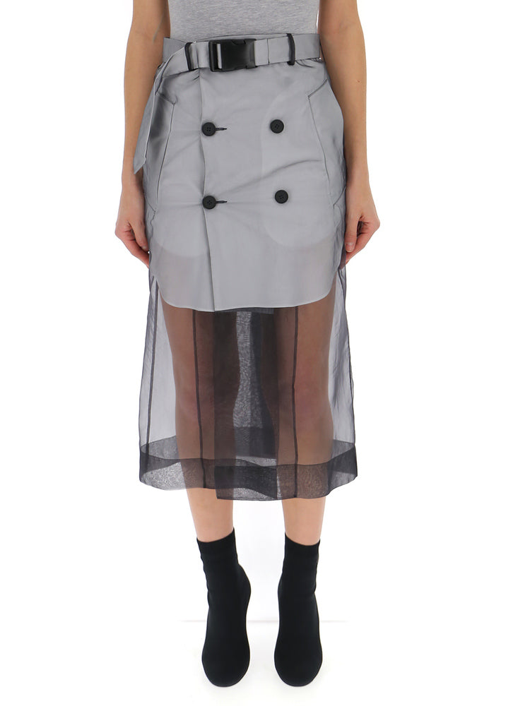 Maison Margiela Buckled Sheer Skirt