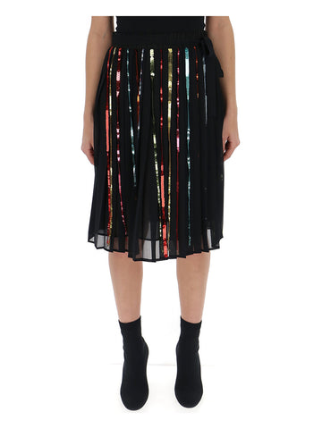 Marco De Vincenzo Sequin Detail Skirt