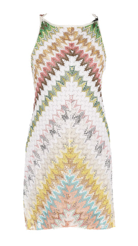 Missoni Sleeveless Patterned Mini Dress