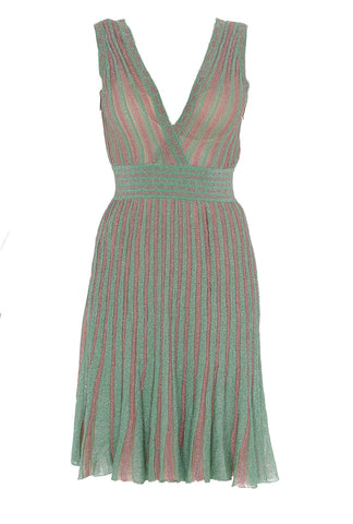 Missoni Sleeveless Ribbed V-Neck Dress
