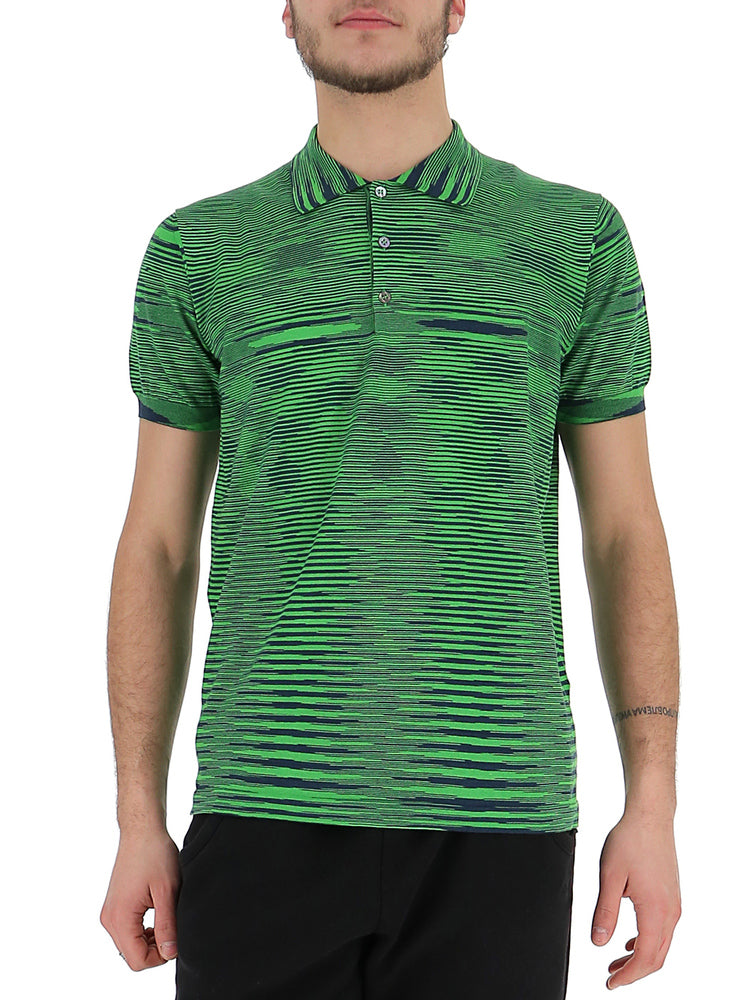 Missoni T-shirts MISSONI OPTIC PRINT POLO SHIRT