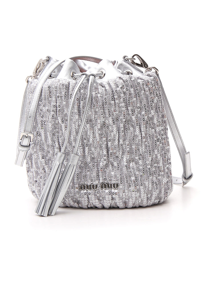 4610ec2b74c Miu Miu Sequinned Bucket Bag – Cettire