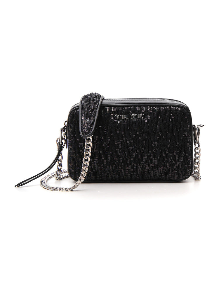 05304f0c03d Miu Miu Sequinned Shoulder Bag – Cettire