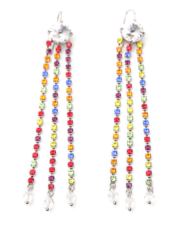 Miu Miu Crystal Drop Earrings