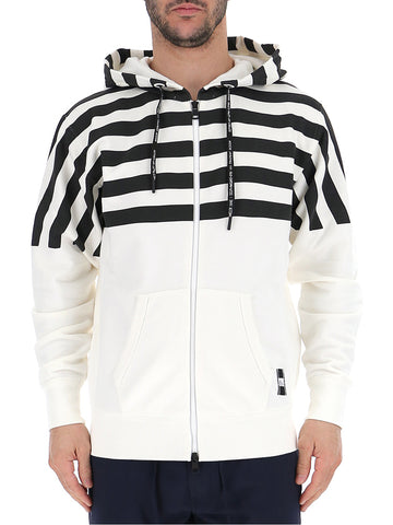 Moncler X Fragment Striped Panelled Hooded Jacket
