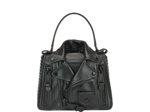 Moschino Structured Biker Tote Bag