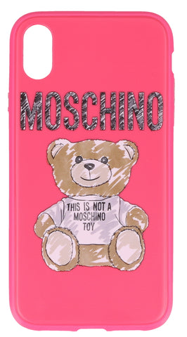 Moschino Teddy Logo iPhone XR Cover