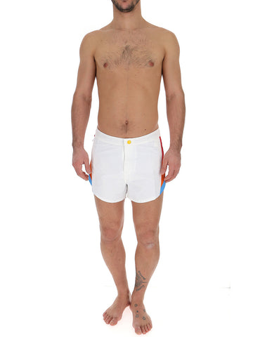 MSGM Side-Stripe Swim Trunks