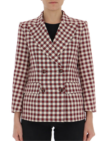 Mulberry Double Breasted Check Blazer