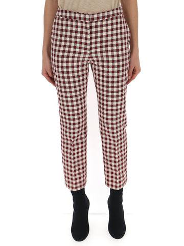 Mulberry Cropped Check Pants