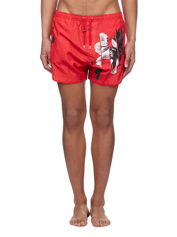 Neil Barrett Flower Print Swim Trunks
