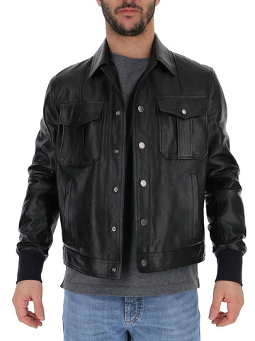 Neil Barrett Buttoned Leather Jacket