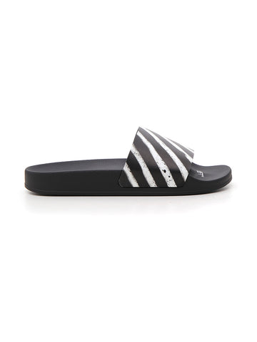 Off-White Diag Striped Slides