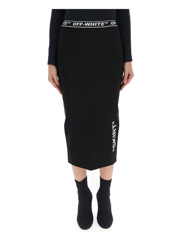 Off-White Logo Pencil Skirt
