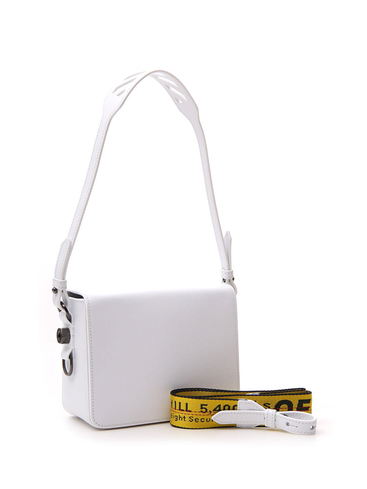 Off-White Flap Leather Crossbody Bag